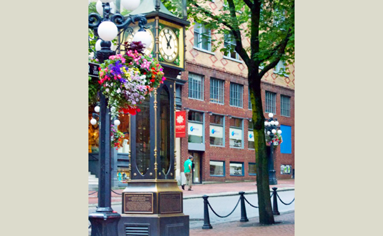 SOL Vancouver-outside with steam clock
